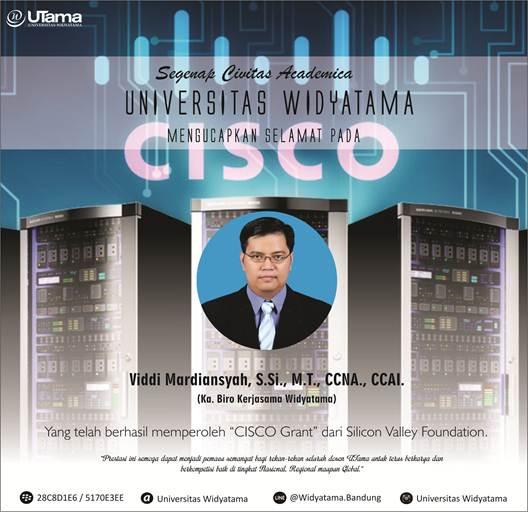 CISCO Grant Dosen Prodi. Teknik Informatika Universitas Widyatama